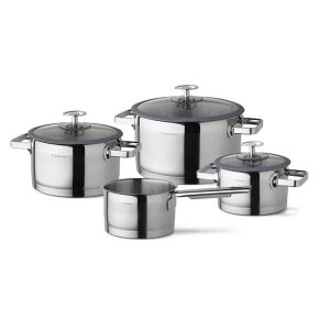 Cuisinox stainless steel Cookware set Denim Blues
