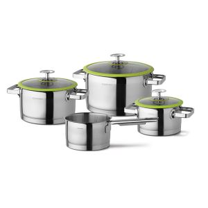 Cuisinox stainless steel Cookware set Green