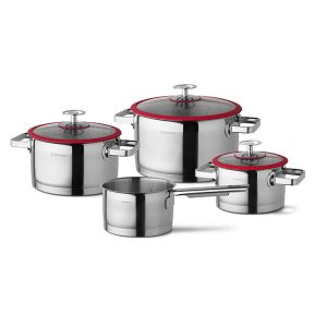 Cuisinox stainless steel Cookware set Red