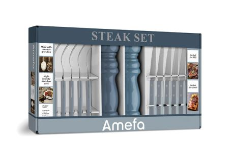 Denim Blues 14 piece Steak/BBQ set